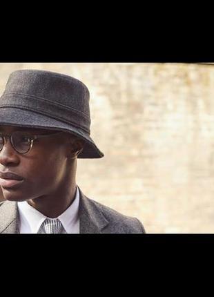 Шерстяная панама твид шляпа bucket hat