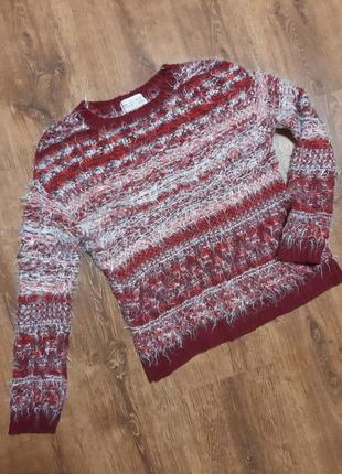 Яркий укороченый свитер травка