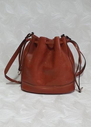 Кожаная сумка massimo dutti, оригинал