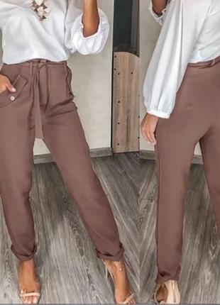 Брюки женские с карманами, норма/батал, жіночі стильні штани