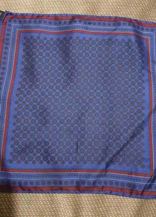 Мужской карманный шёлковый (100%) платок италия