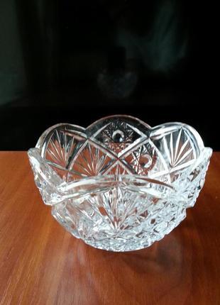 Хрустальная салатница/конфетница ссср