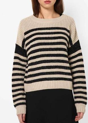 Стильный яркий свитер в полоску tally weijt