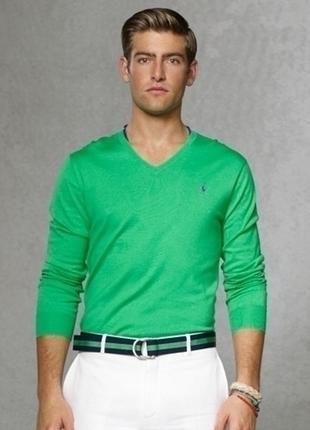 Стильный лёгкий свитерок polo ralph lauren pima cotton slim fit