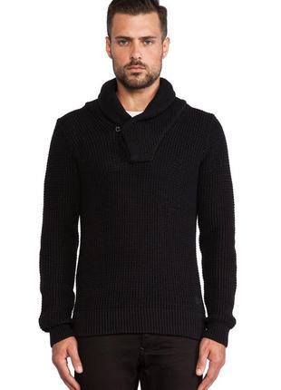 Стильный свитер g-star raw luca shawl coll knit slim fit