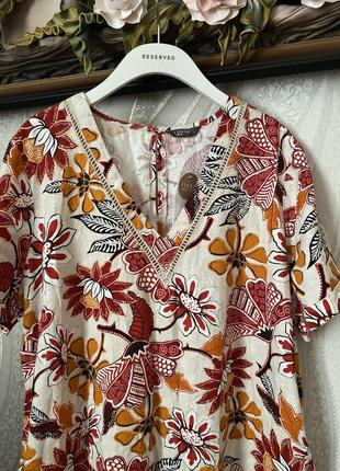 Нарядное красивое платье льняное батал marks & spenser