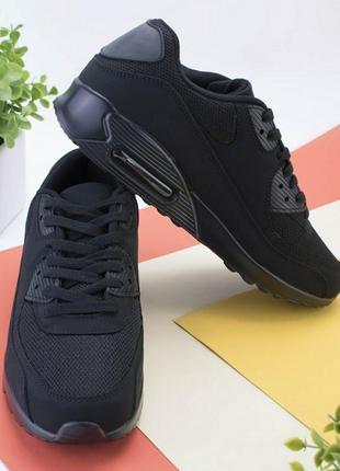🌿 мужские черные кроссовки