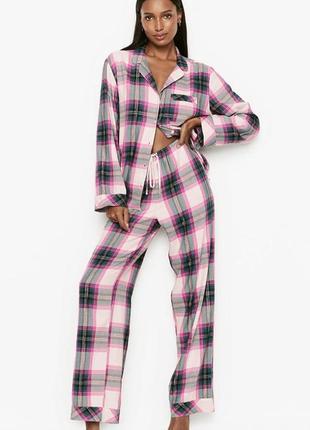Новая фланелевая пижамка victoria secret оригинал