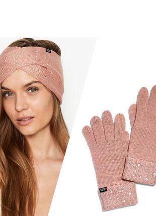 Гламурная повязка на голову с камнями перчатки виктория сикрет