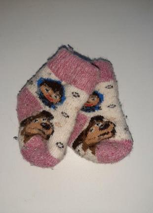 Тёплые, шерстяные носки для девочки