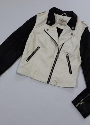 Куртка косуха  укороченная демисезонная  двух цветов parisian collection