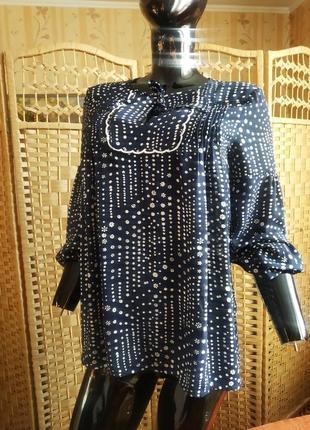 Блуза свободного кроя с защипами от gap4 фото