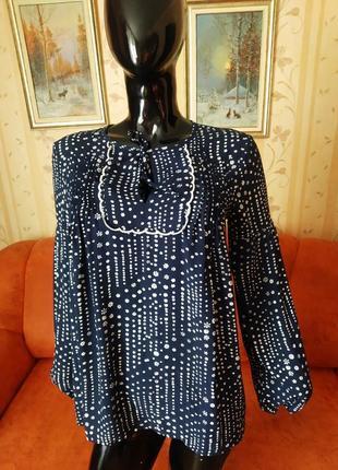 Блуза свободного кроя с защипами от gap3 фото