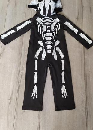 Детский костюм скелет, ящерица, динозавр на 2-3 года на хеллоуин