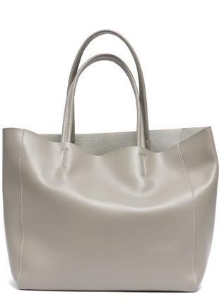 Сумка шопер, коллекция 2021, кожа. ручки удобно на плечо. кожаная сумка