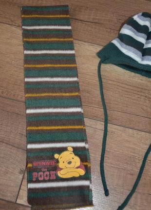 Комплект, набор шапка и шарф мальчику демисезон ergee германия 3-6 мес. ог 38-42 см