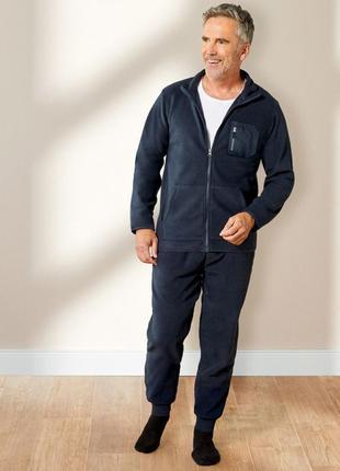 Теплый флисовый спортивный мужской костюм для отдыха , livergy германия