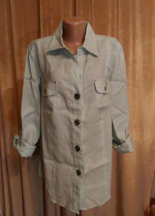 Льняная рубашка elena miro, р.xxl