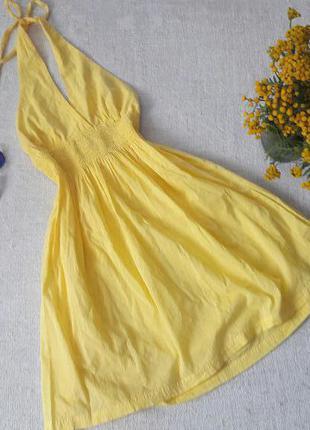 Легкое платье хлопок с у-образным вырезом
