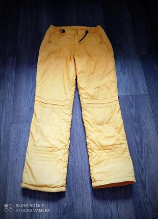 Лыжные штаны полукомбинезон для девочки ростом 140-146