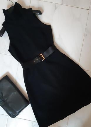 Стильное платье на гольф новое миди сарафан шерсть тепле плаття деловой офис s