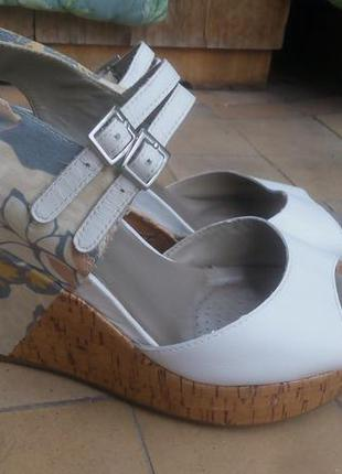 Clarks 5, 38 сандалии кожаные