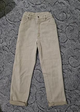 Плотные джинсы, джинси мом момы высокая посадка винтаж