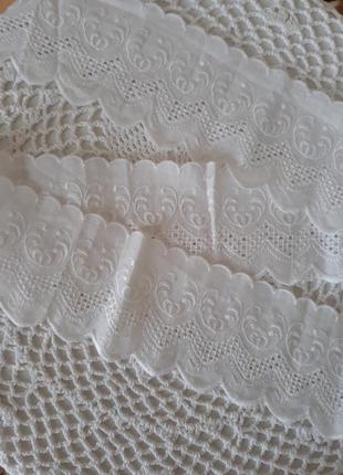 Ткань с вышивкой ришелье, для поделок, шитья, италия, рішельє