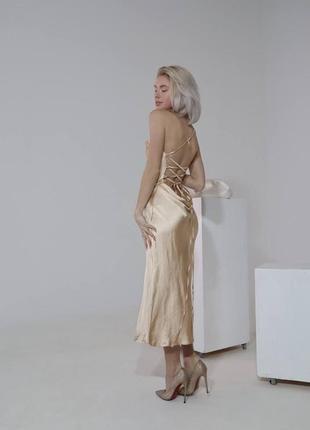 Изящное платье комбинация