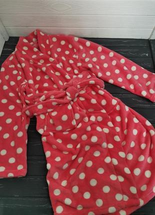 Шикарный махровый халат в горошек