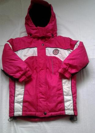 Термо куртка на девочку рост 110 см