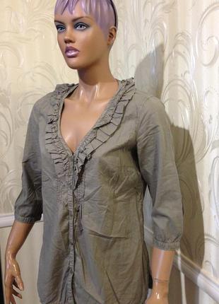 Блуза-рубашка, esprit, размер 40/m-l