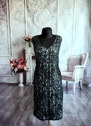 Мега стильное платье вечернее пайетки миди