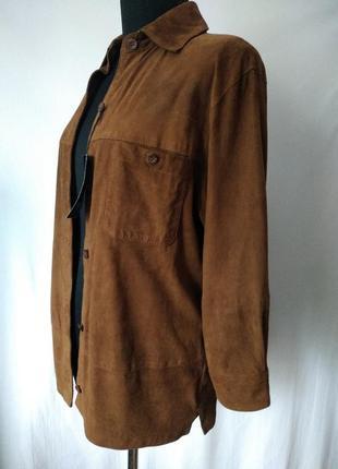 Joy оригинал /новая  замшевая рубашка - куртка/ 100% кожа