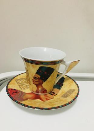 Кофейная чашка набор блюдце нефертити