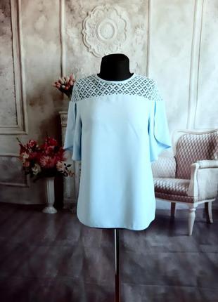 Нежная блузка шифоновая голубая