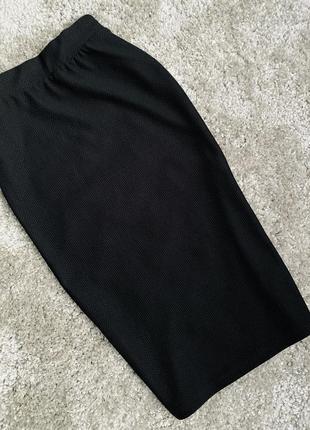 Черная юбка карандаш/юбка миди карандаш miss selfri