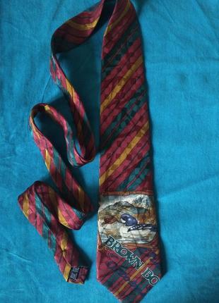 Шелковый галстук винтаж