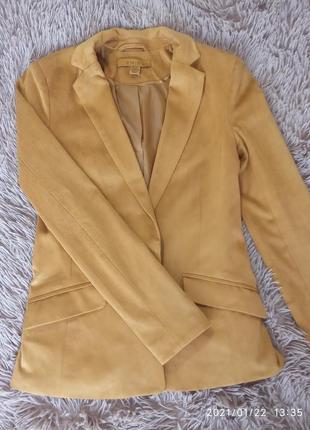 Красивый бархатный пиджак под замш