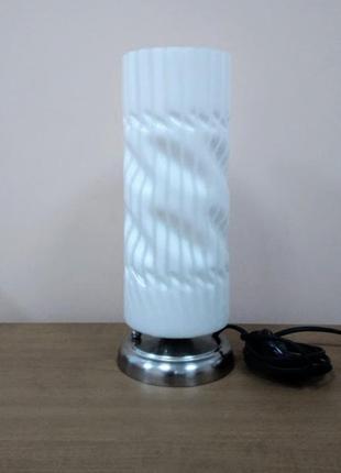 Настольная лампа ночник в форме цилиндра