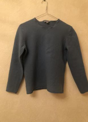 Cos пуловер гольфик синий голубой шерстяной
