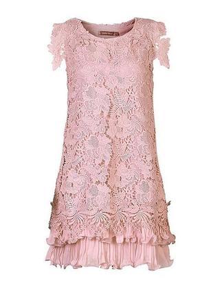 Кружевное нюдовое платье jolie moi р. 14