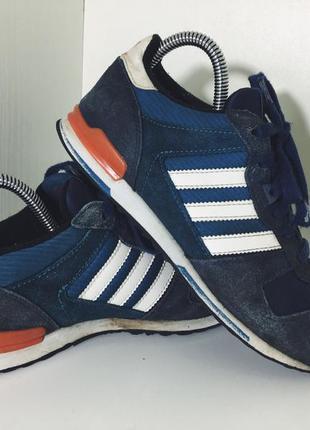 Женские замшевые кроссовки adidas zx 750 ( адидас 36,5рр 23см оригинал сине-белые)