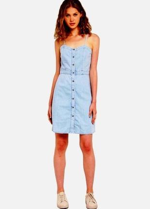 Новое джинсовое платье-сарафан