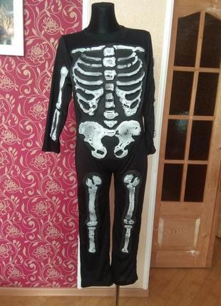 Костюм скелета на 10-11 років,ріст 140-146см.