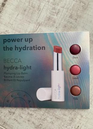 Палетка пробников бальзама-плампера для губ becca hydra-light plumping lip balm