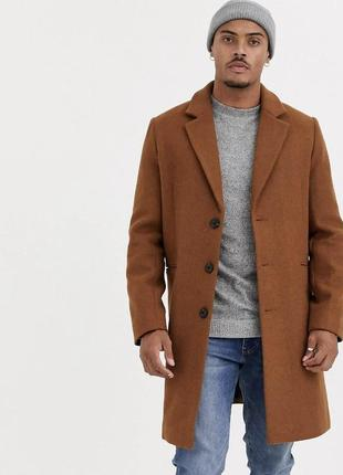 Asos пальто шерстяное