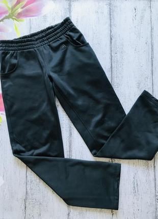 Крутые тёплые на флисе прямые штаны adidas размер s