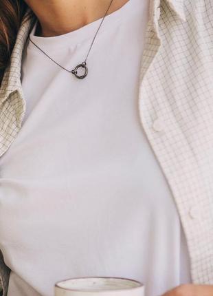 Белая базовая футболка oversize6 фото