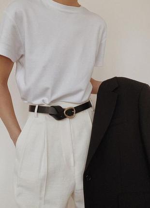 Белая базовая футболка oversize3 фото